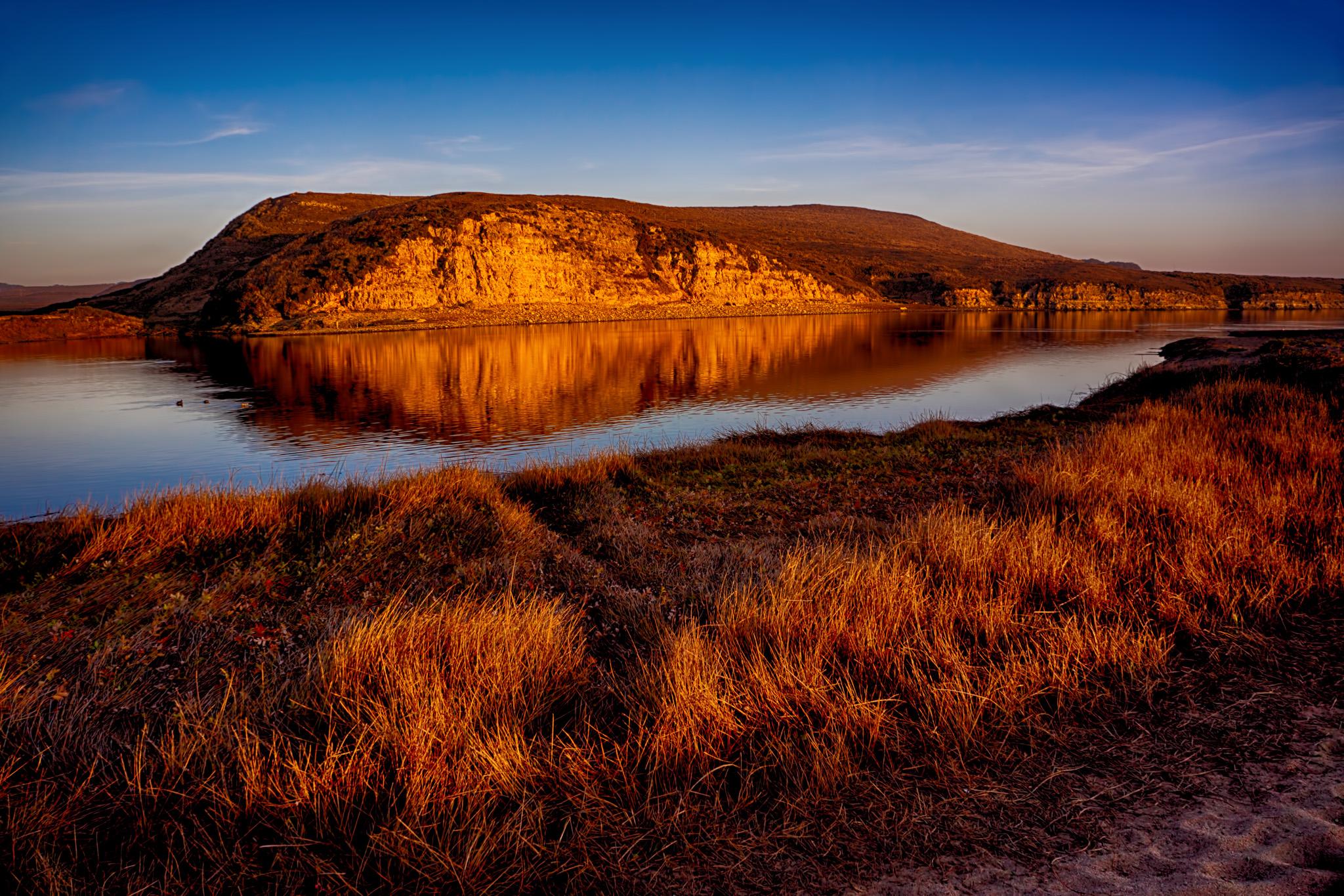 Abbotts Lagoon at Sunset