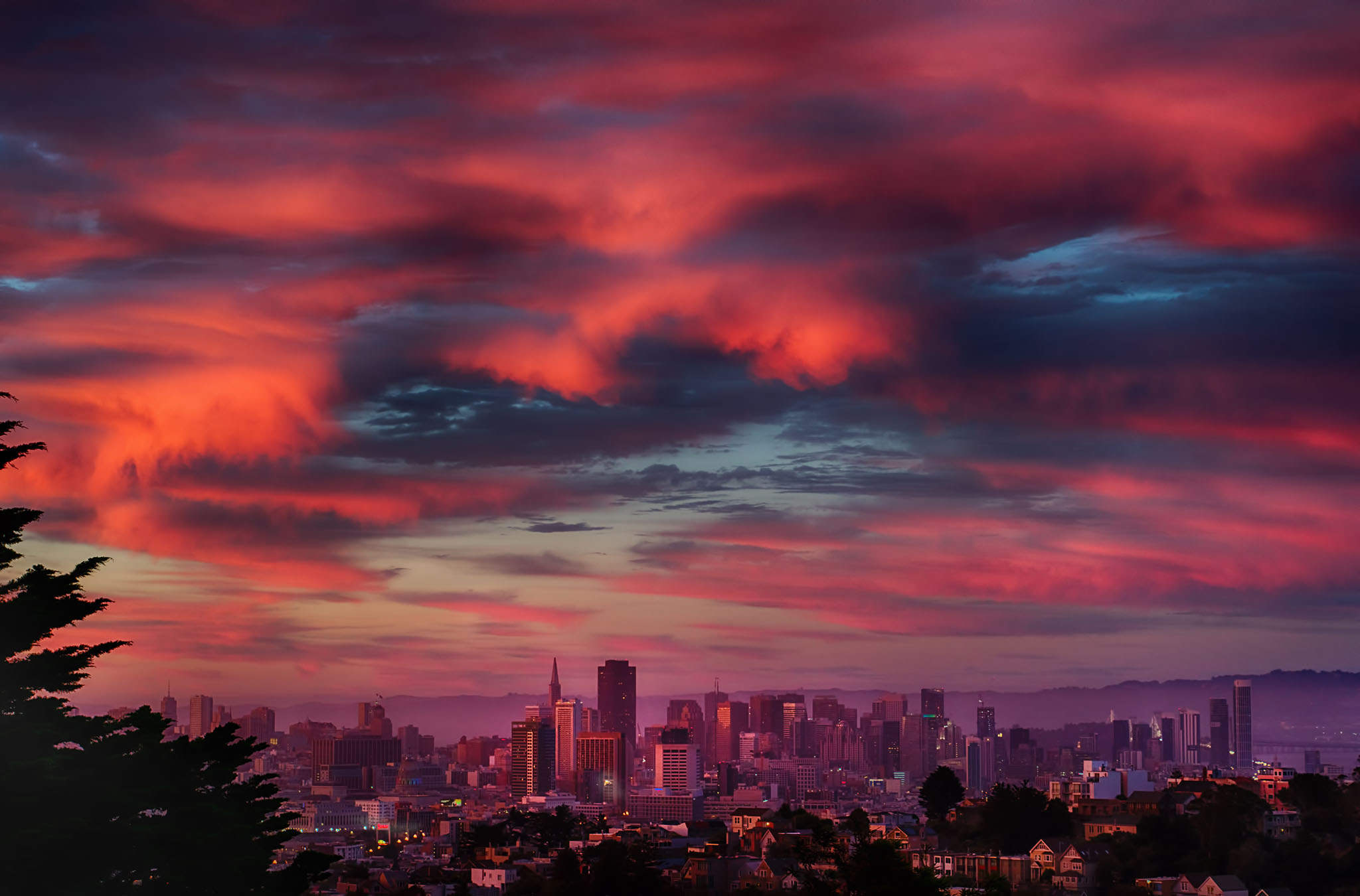Last Light of Summer Solstice over San Francisco 2