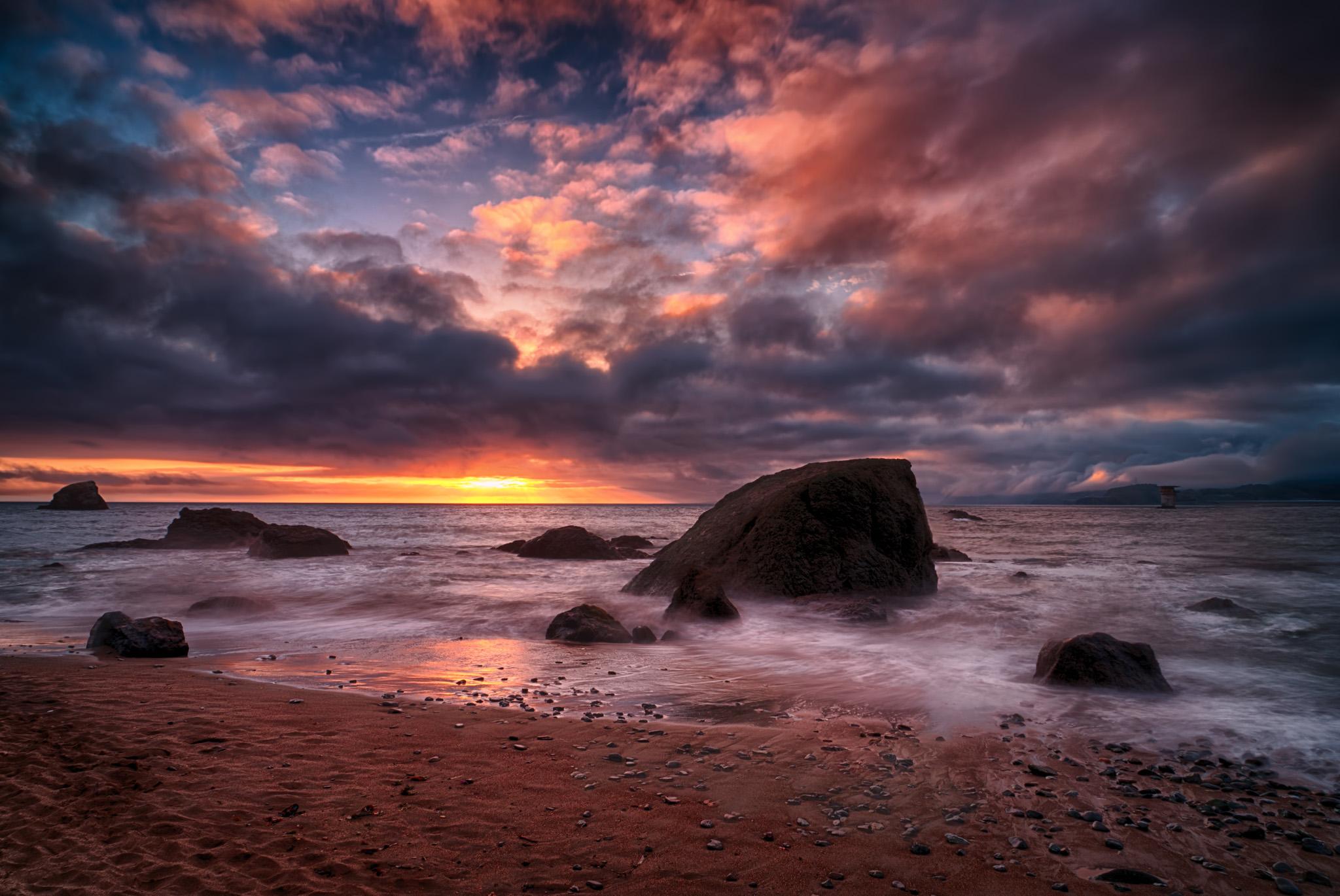 Mile Rock Sunset