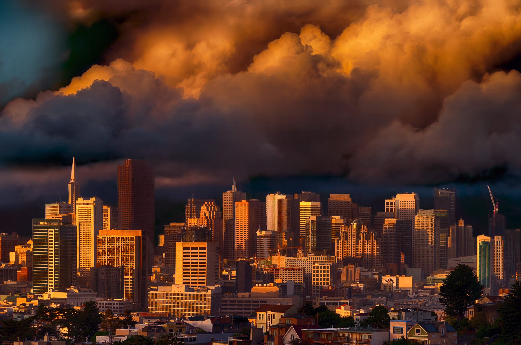 San Francisco and Clouds