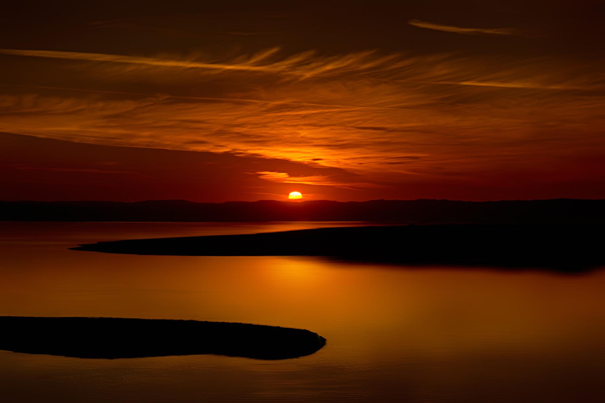 Sunset Over Abbotts Lagoon