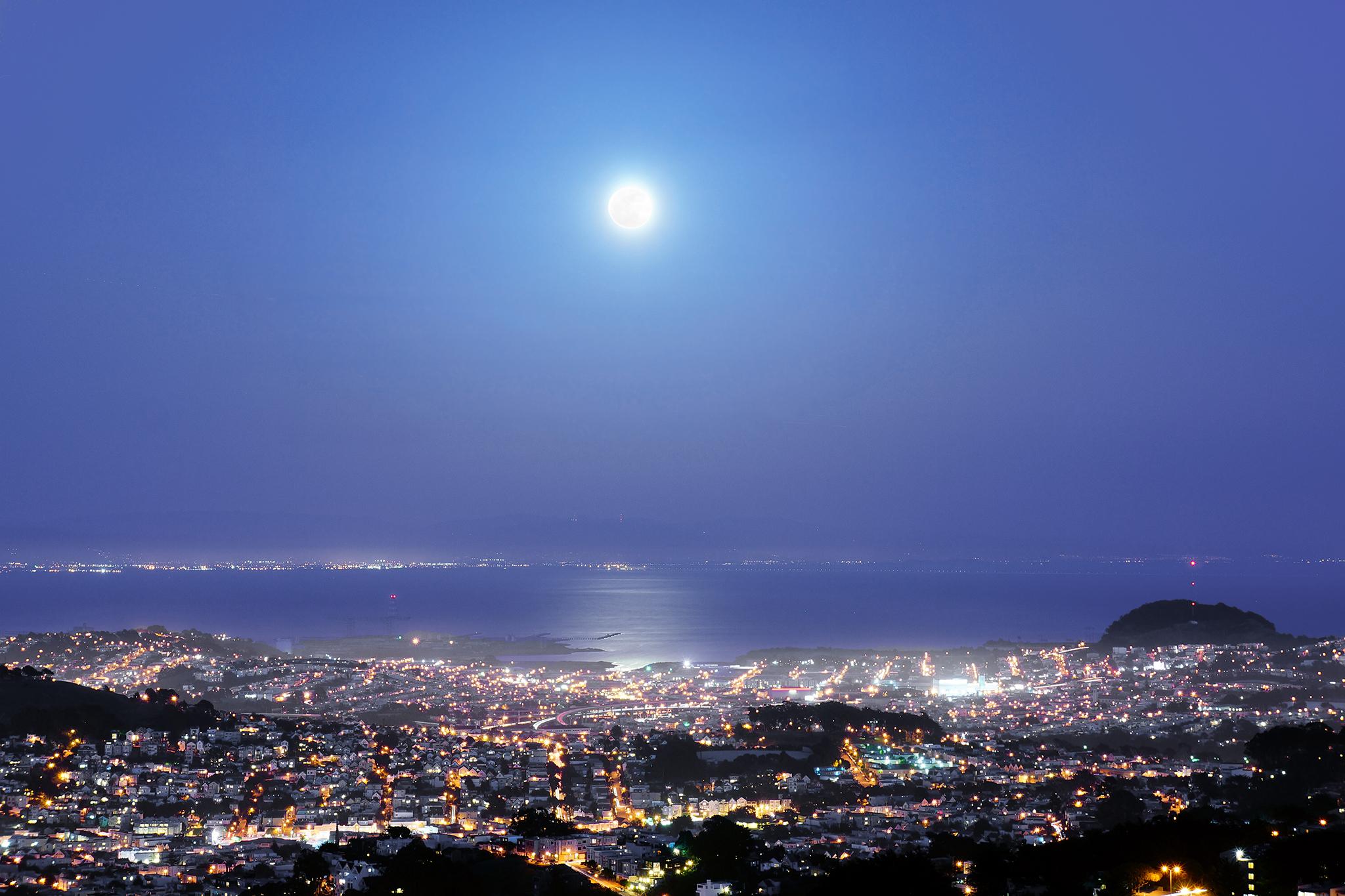 Supermoon Over San Francisco